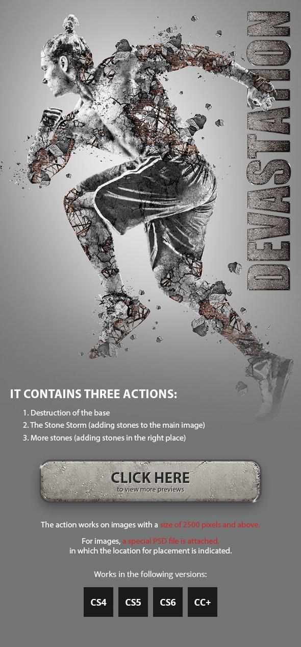 Devastation Photoshop Action - Photo Effects Actions