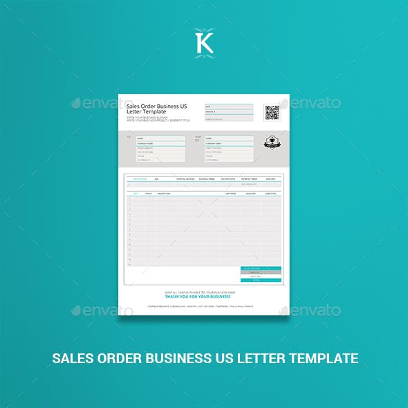 Sales Order Business US Letter Template