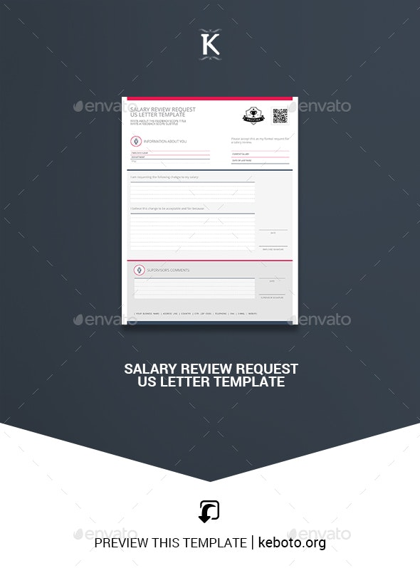 Salary Review Request US Letter Template - Miscellaneous Print Templates