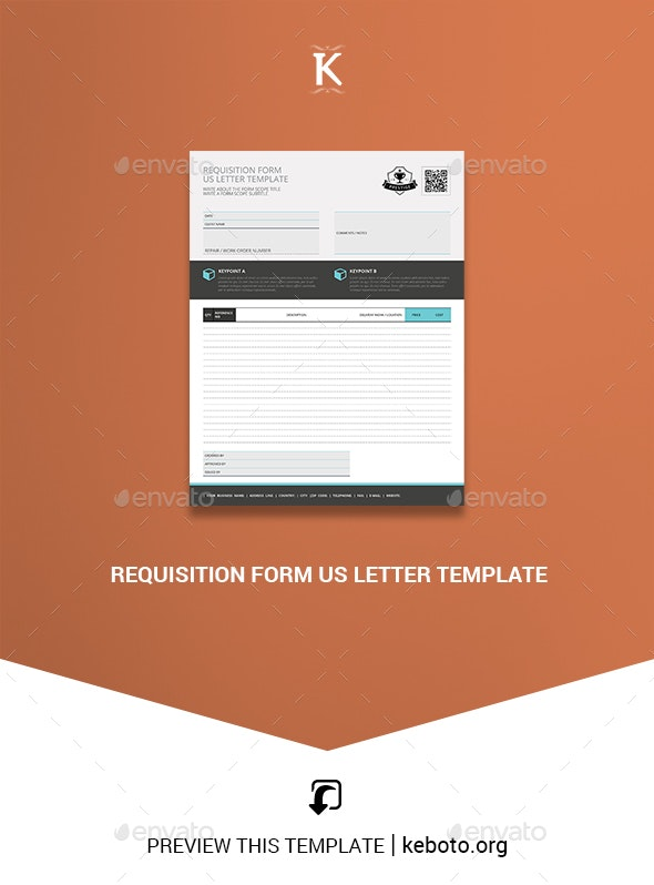 Requisition Form US Letter Template - Miscellaneous Print Templates