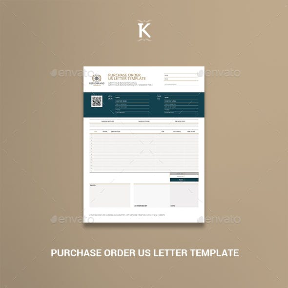 Purchase Order US Letter Template