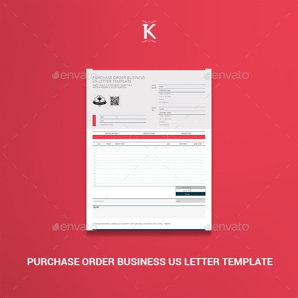 Purchase Order Business US Letter Template