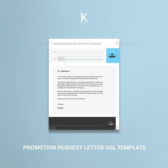 Promotion Request Letter USL Template