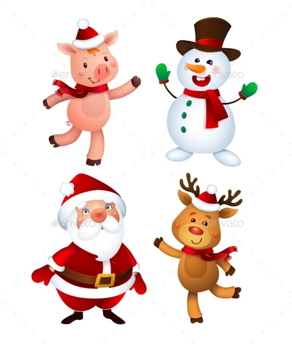 Merry Christmas Characters by