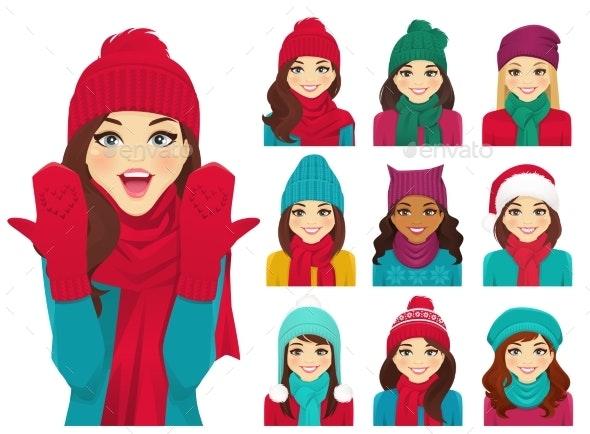 Women Set in Hats - Man-made Objects Objects