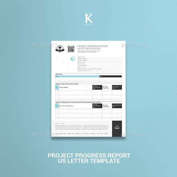 Project Progress Report US Letter Template