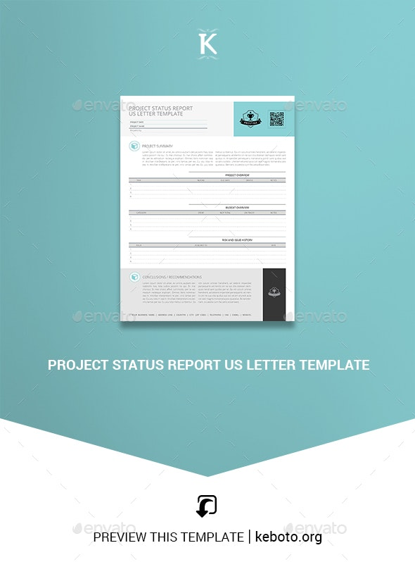 Project Status Report US Letter Template - Miscellaneous Print Templates