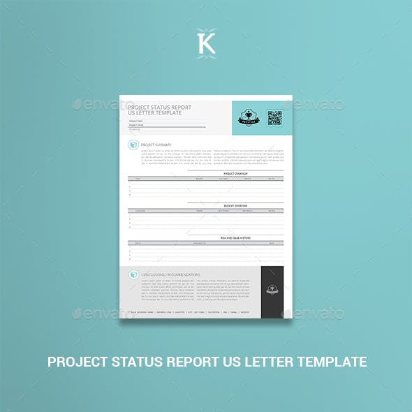 Project Status Report US Letter Template