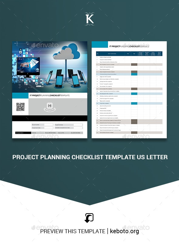 Project Planning Checklist Template US Letter by Keboto