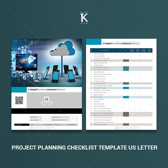 Project Planning Checklist Template US Letter