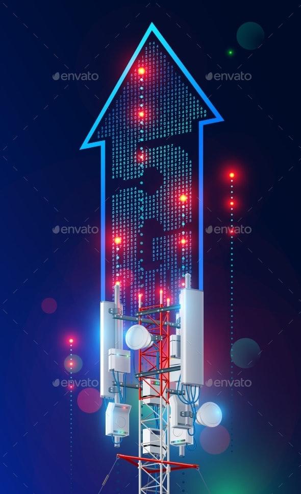5G Tower Communication Antenna Fast Speed Station - Communications Technology