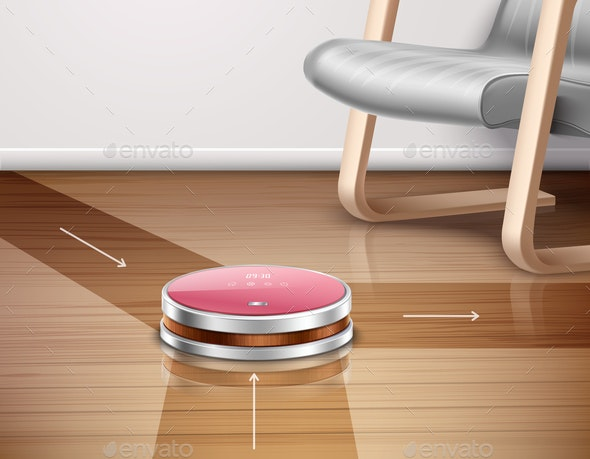 Robot Vacuum Cleaner Illustration - Computers Technology