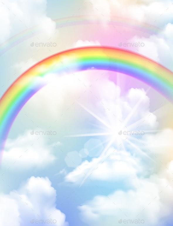 Rainbow Realistic Composition - Landscapes Nature