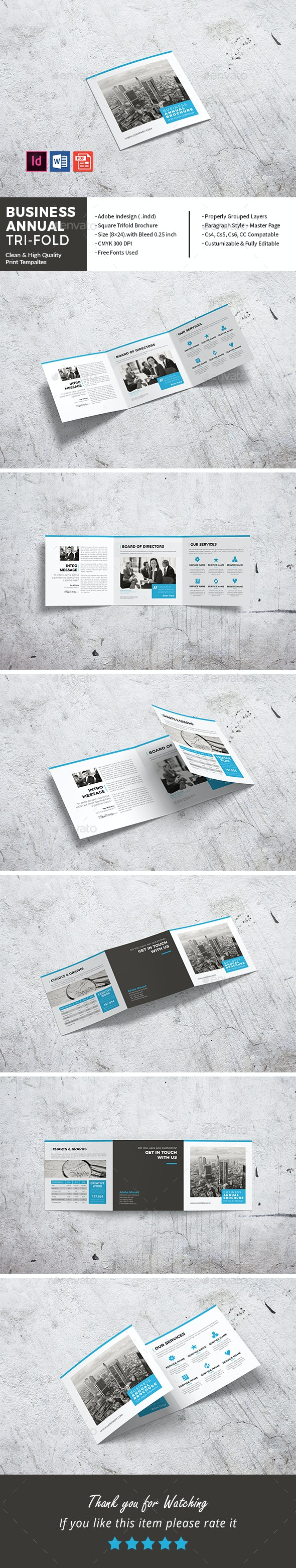 Square Business Annual Tri-Fold - Corporate Brochures