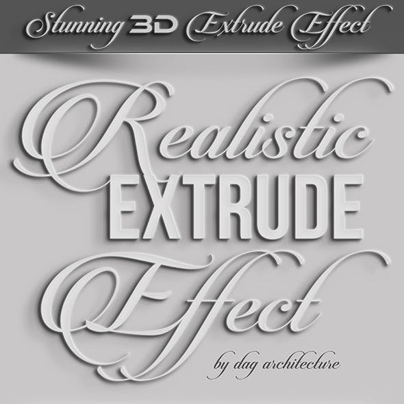 Realistic 3D Extrude Effect
