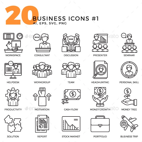 Business Icons - Volume 1 - Business Icons