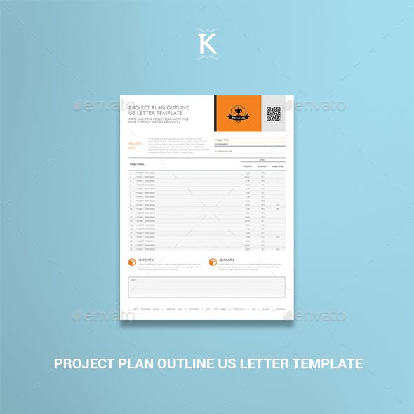 Project Plan Outline US Letter Template