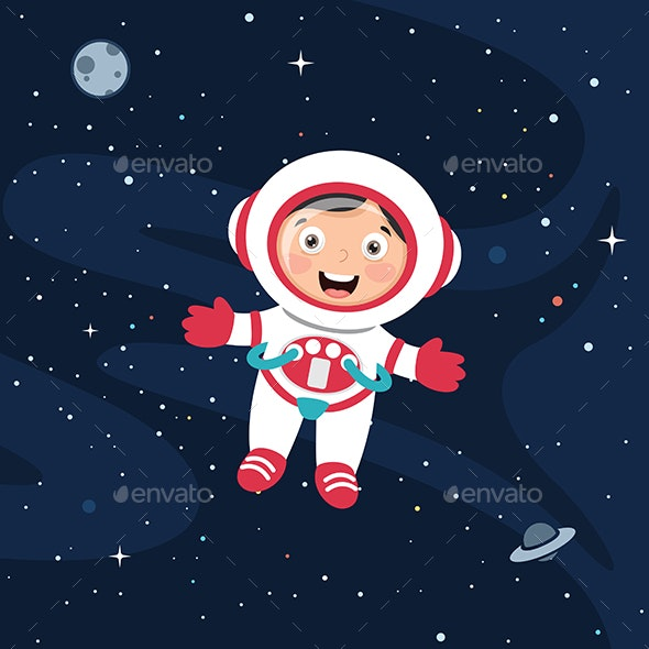 Vector Illustration of Space - Backgrounds Decorative