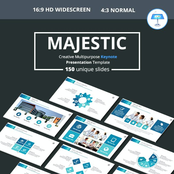 Majestic Multipurpose Keynote Presentation Templat