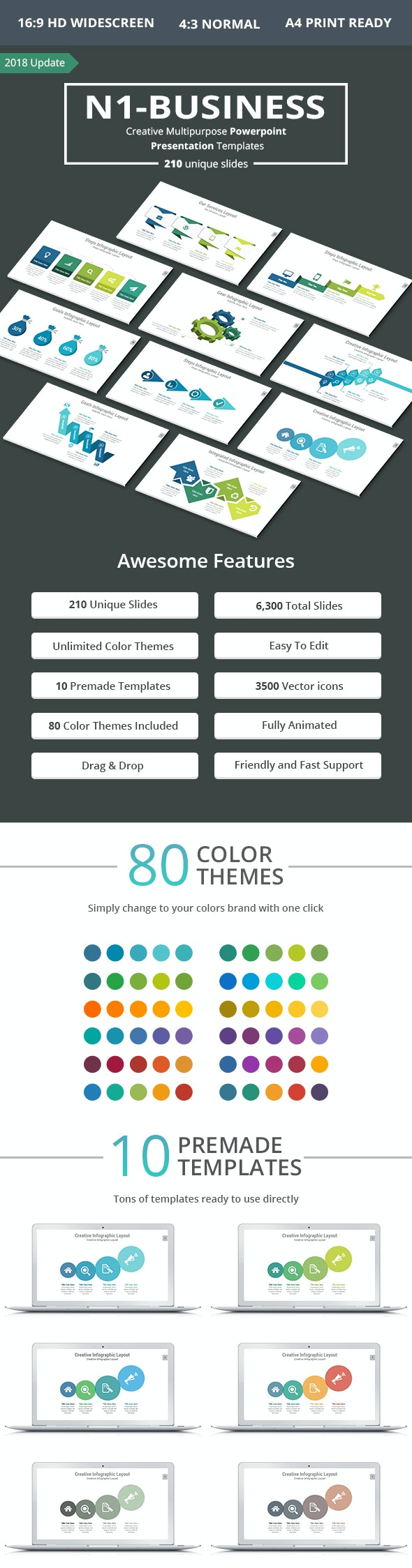 N1 Multipurpose PowerPoint Presentation Template - PowerPoint Templates Presentation Templates