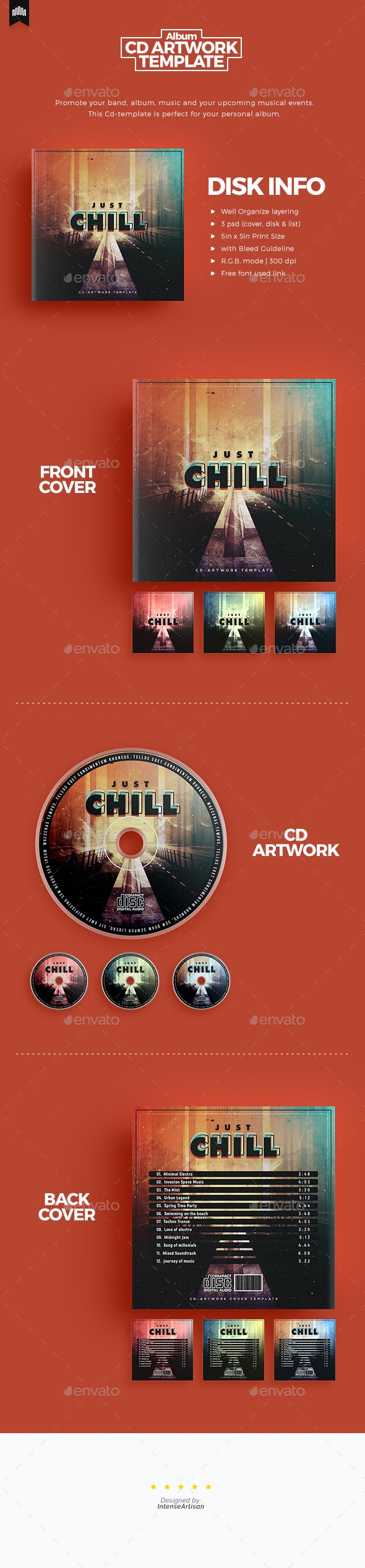 Chill - Cd Artwork - CD & DVD Artwork Print Templates