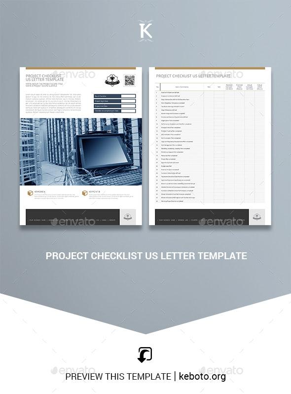 Project Checklist US Letter Template - Miscellaneous Print Templates