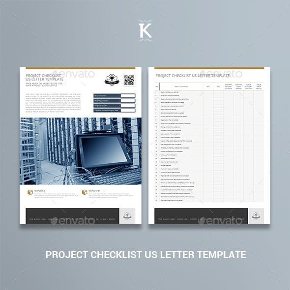 Project Checklist US Letter Template