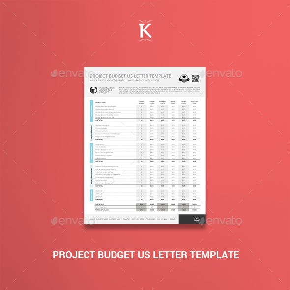 Project Budget US Letter Template