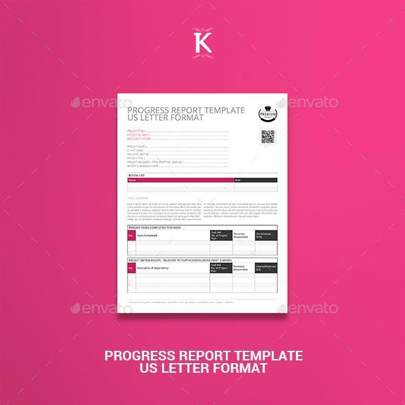Progress Report Template US Letter Format