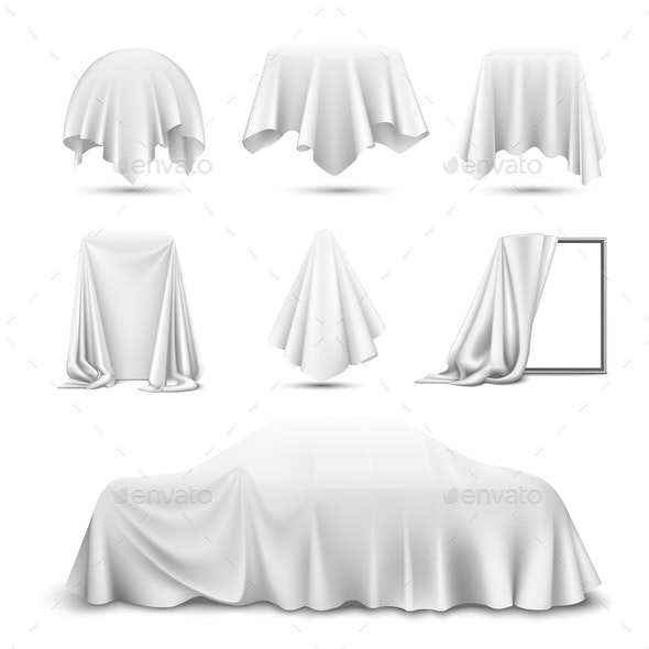 Cloth Covered Objects Realistic Set - Miscellaneous Vectors