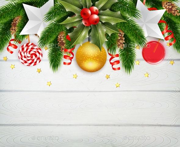 Christmas New Year Composition - Christmas Seasons/Holidays
