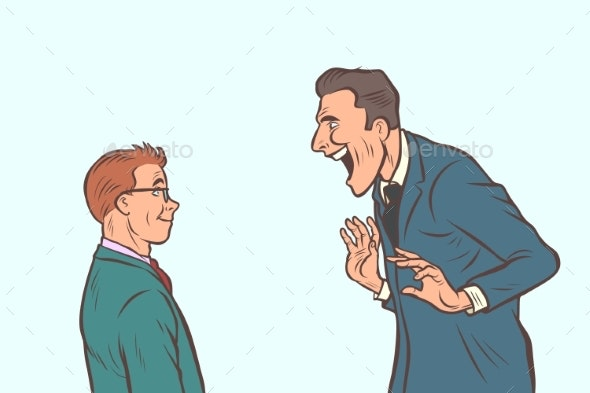 Joyful Meeting Boss and Businessman - Business Conceptual