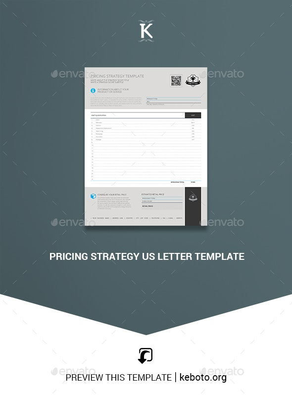 Pricing Strategy US Letter Template - Miscellaneous Print Templates