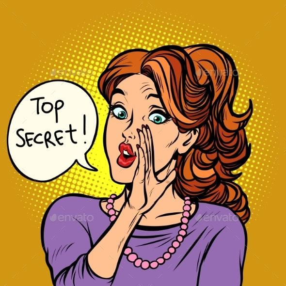 Top Secret. Women Gossip Rumor - People Characters