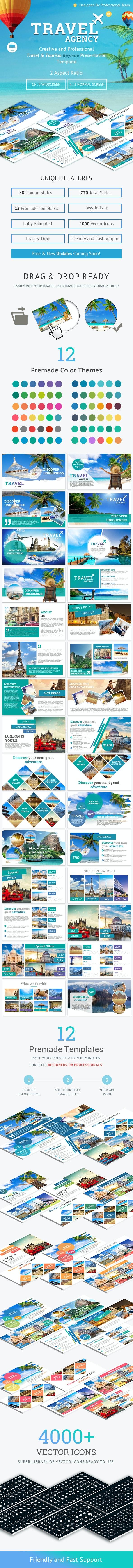 Travel and Tourism Keynote Presentation Template - Business Keynote Templates