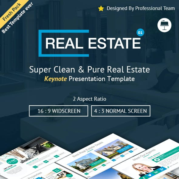 Creative Real Estate Keynote Presentation Template