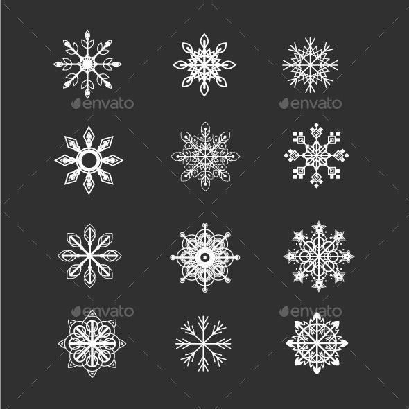 Snowflakes Vector Set - Christmas Seasons/Holidays