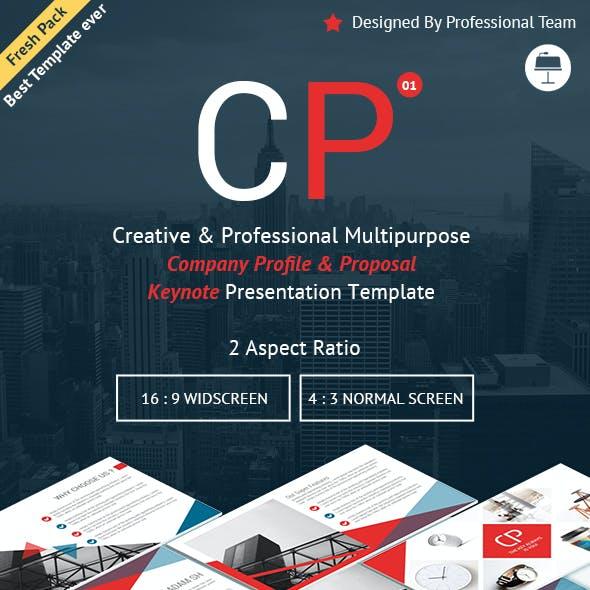 Multipurpose Company Profile and Proposal Keynote Presentation Template