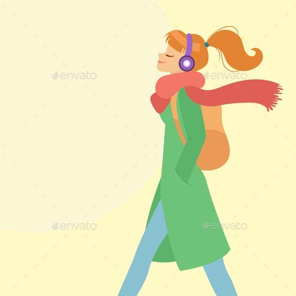 Woman Walking - People Characters