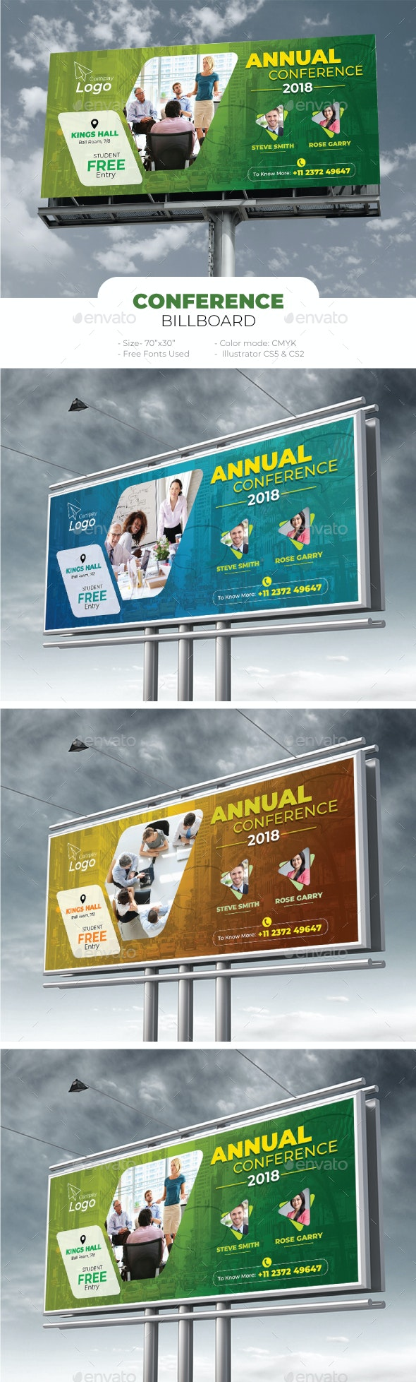 Corporate Conference Billboard - Signage Print Templates