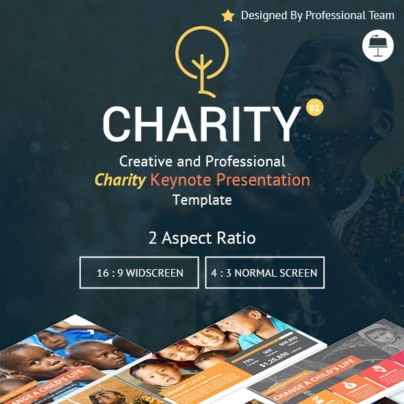 Charity Creative Keynote Presentation Template