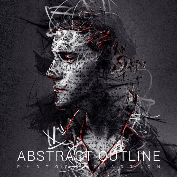Abstract Outline Photoshop Action