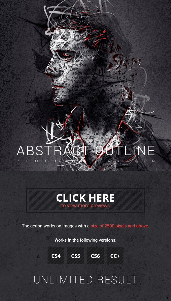 Abstract Outline Photoshop Action - Photo Effects Actions