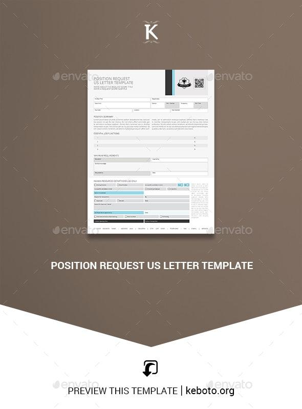 Position Request US Letter Template - Miscellaneous Print Templates
