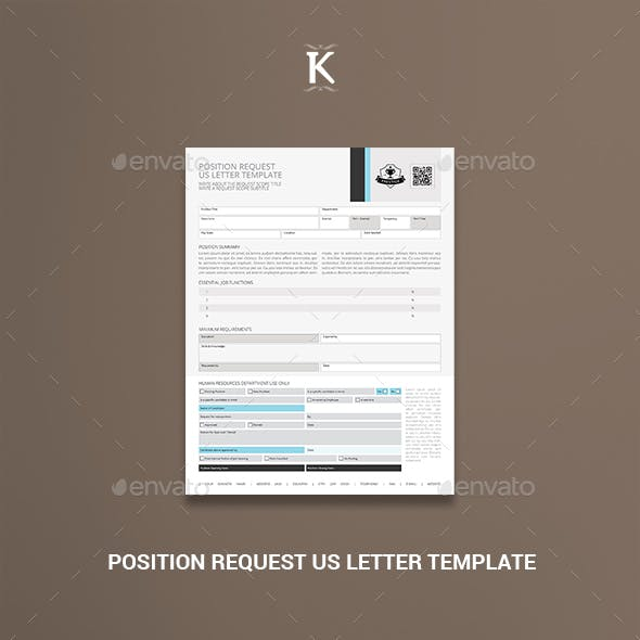Position Request US Letter Template