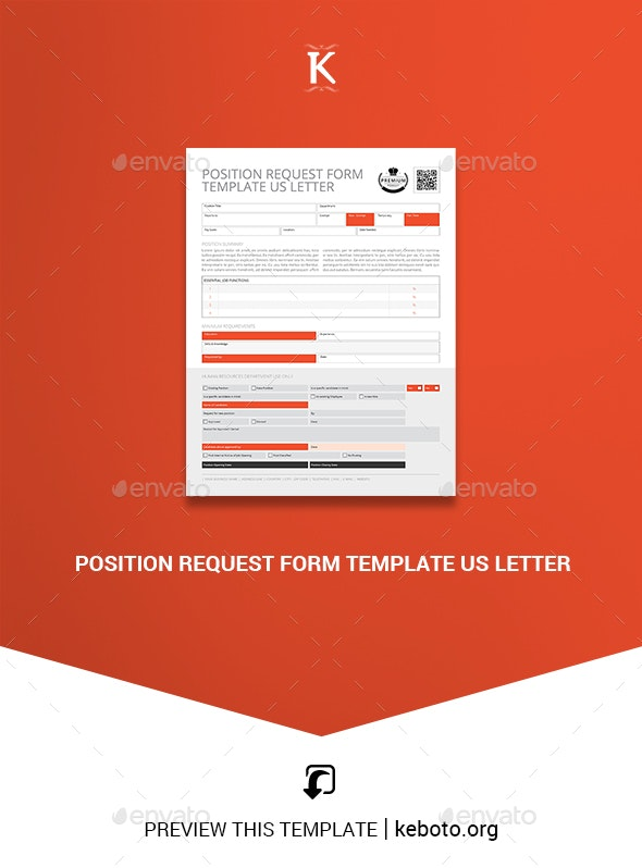 Position Request Form Template US Letter - Corporate Brochures