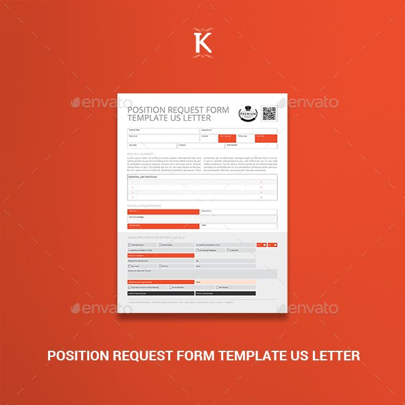 Position Request Form Template US Letter