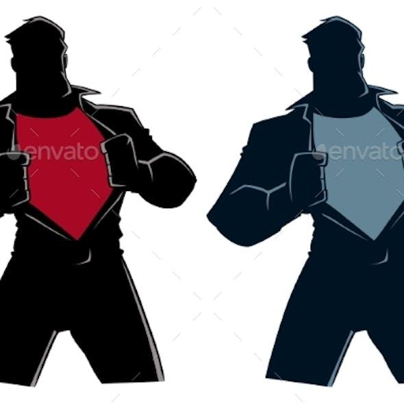 Superhero Under Cover Casual Silhouette