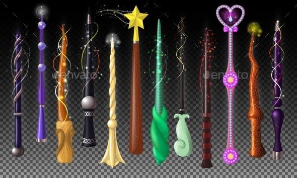 Wand Vector Magic Stick Miracle Fantasy Magician - Miscellaneous Vectors