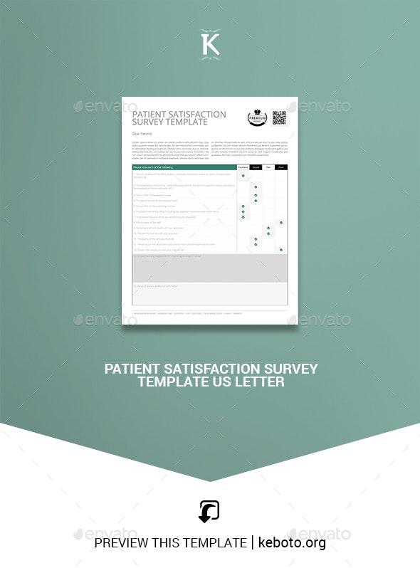 Patient Satisfaction Survey Template US Letter - Miscellaneous Events